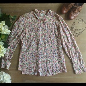 Madewell Floral Button Down Blouse
